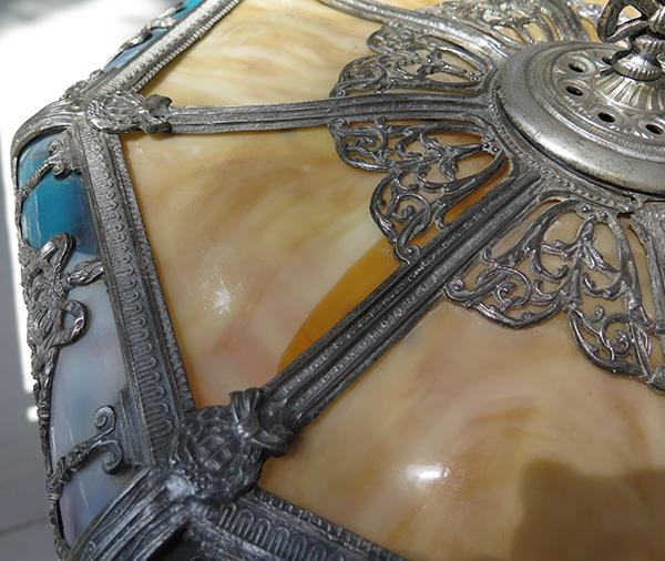 Empire Custom Flooring Inc: Empire Lamp & Brass Mfg. Co. Leaded Panel Lamp With